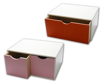 Wooden Colorful Storage Box
